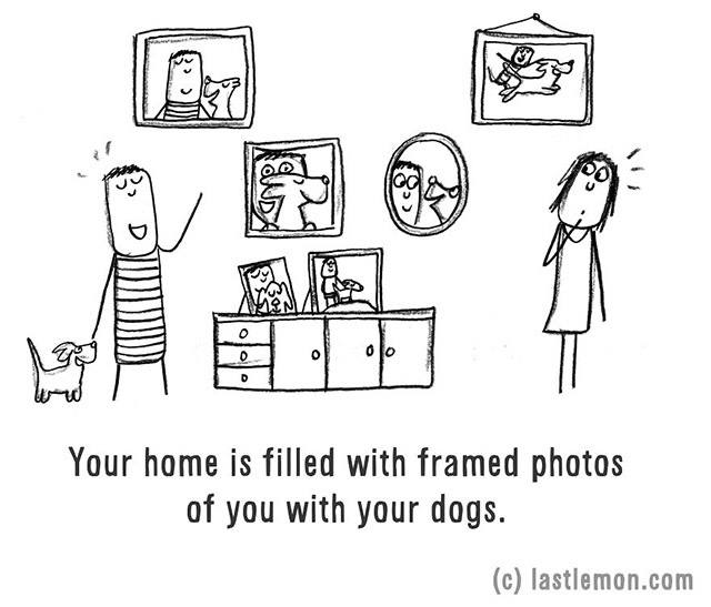 Your home is filled with framed photos of you with your dog