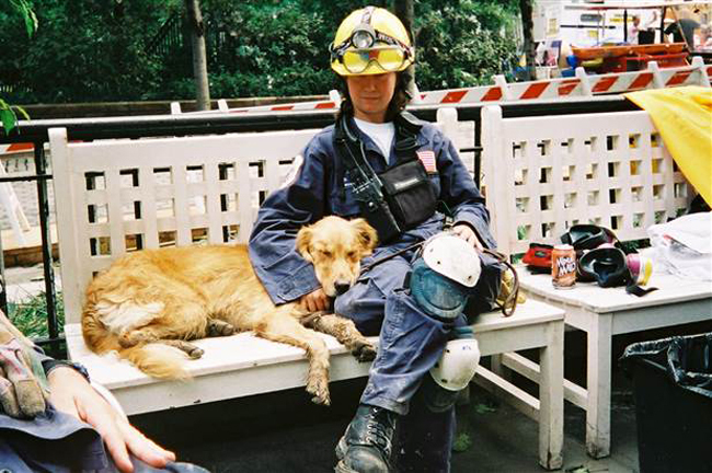 Bretagne was only two years old - 9/11 was her first rescue mission