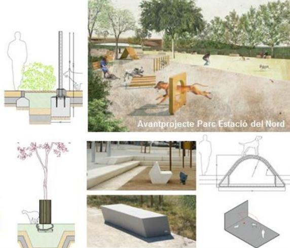 Graphic designs for dog parks and recreation areas in Barcelona