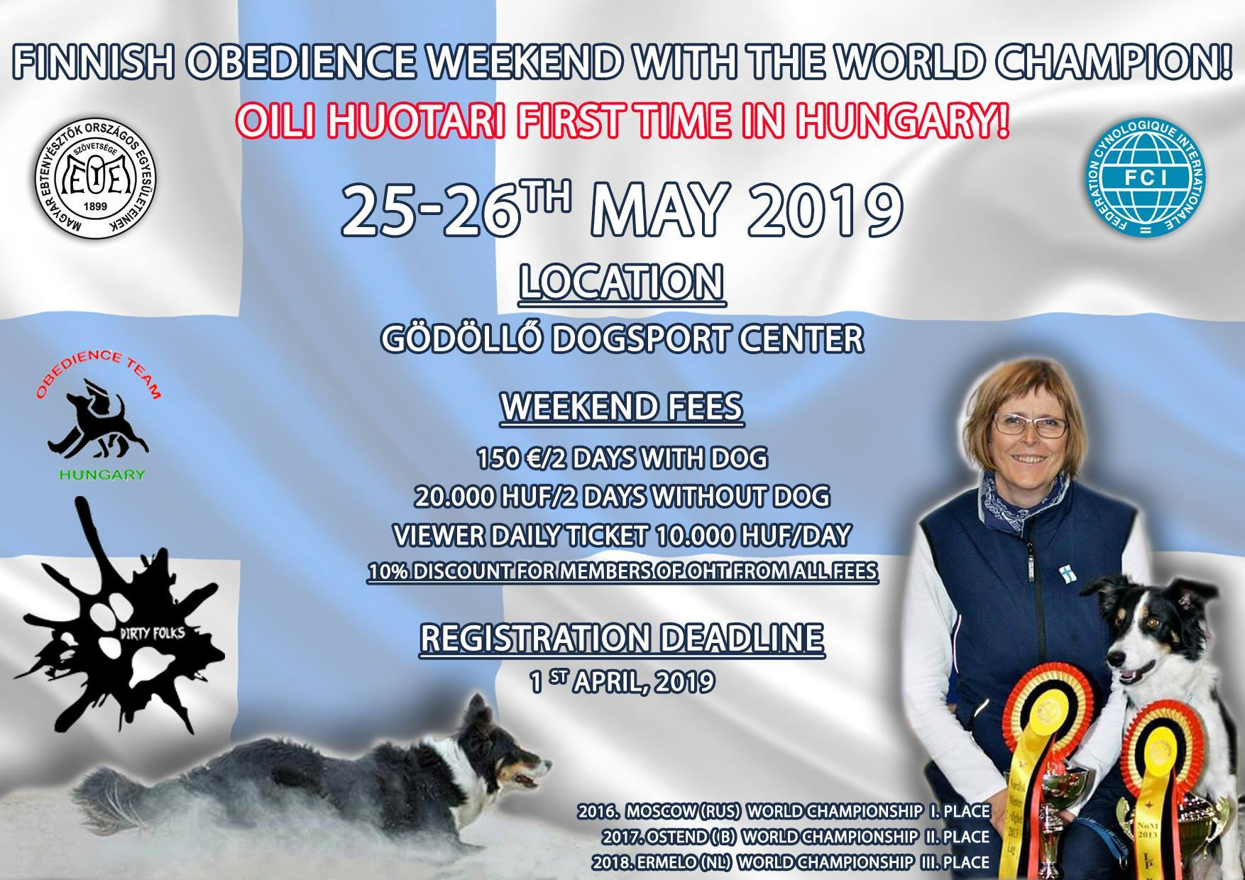 Oili Huotari Obedience Weekend
