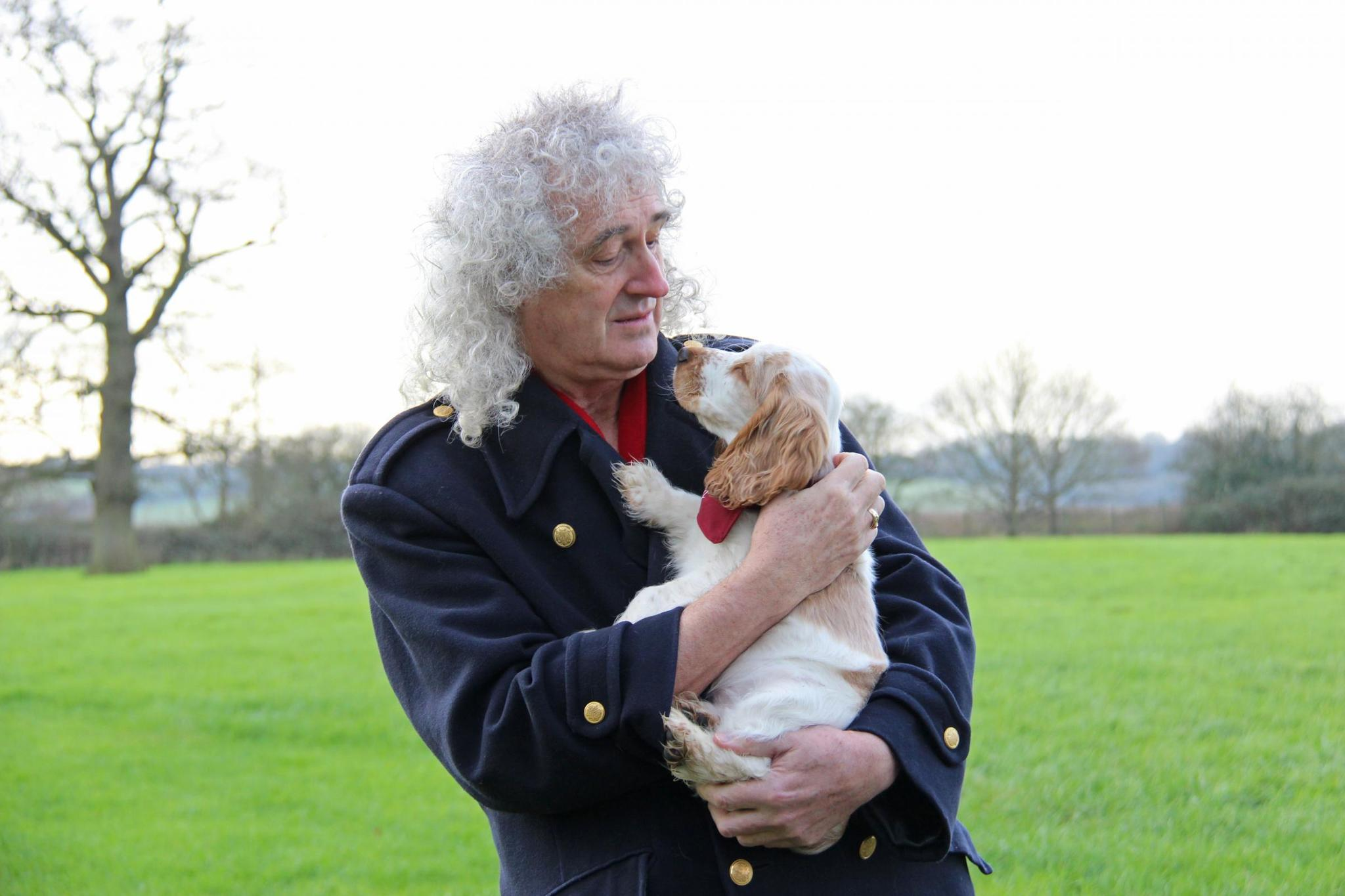Brian May and puppy Ralph quickly became friends