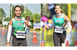 Runner finds lost puppy during Marathon, carries him to the finish line