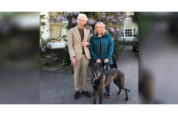 Rolling Stones drummer adopts rescued greyhound