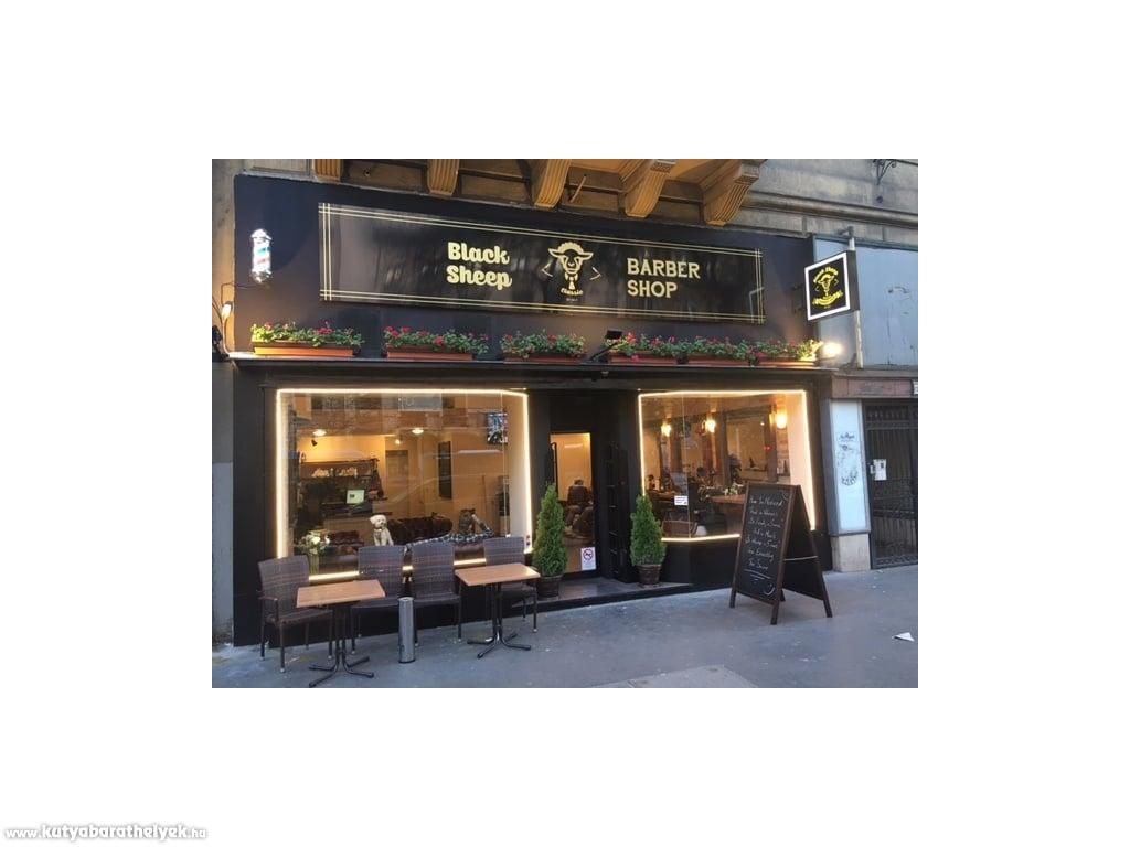 dog friendly places - black sheep barber shop